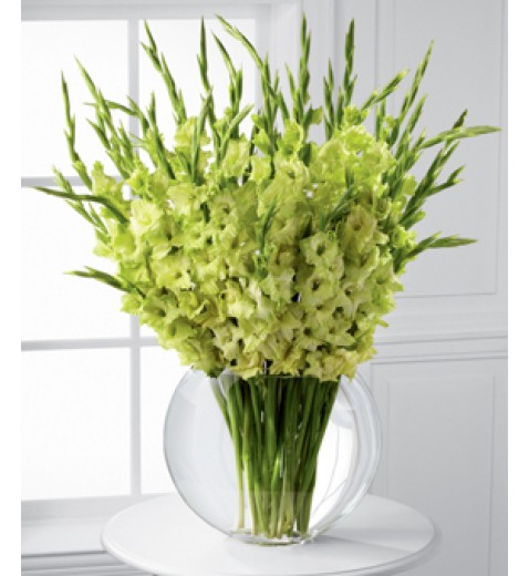 Green Gladiolus Bouquet